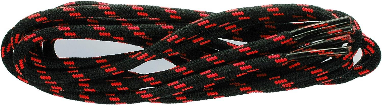 TZ Excellent Cord 4mm Spiral flecks Black 130cm Flo shoelaces Pink