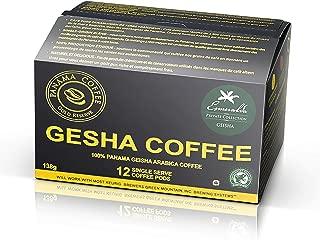 12 K cups of Panama Esmeralda Geisha Coffee.