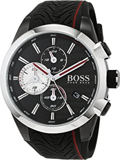 Hugo Boss Men's Black Dial Rubber Band Watch - 1513284