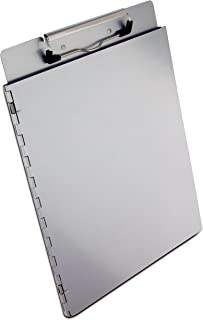 Saunders Recycled Aluminum Portfolio Clipboard with Privacy Cover, Letter Size, 8.5 x 12-Inches, 1 Clipboard (22017)