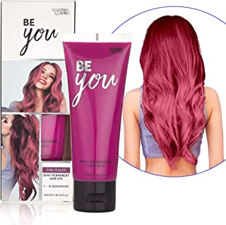 Semi-Permanent Pink Hair Dye - Vibrant 2.36 Oz. Tubes Temporary Hair Color - Ammonia and Peroxide Free -Vegan and 100% Cruelty-Free Toner - Lasts for 7-15 Shampoos - by Splashes and Spills
