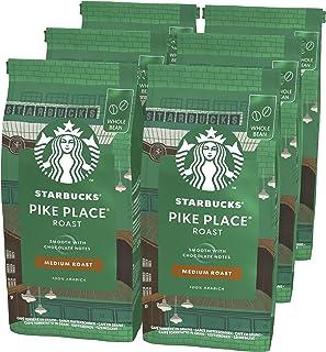 STARBUCKS Pike Place Café De Grano Entero De Tostado Medio 6 Bolsa de 200g