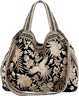 Johnny Was Othilia Black Velvet Cream White Lace Velvet Bag Handbag Purse New