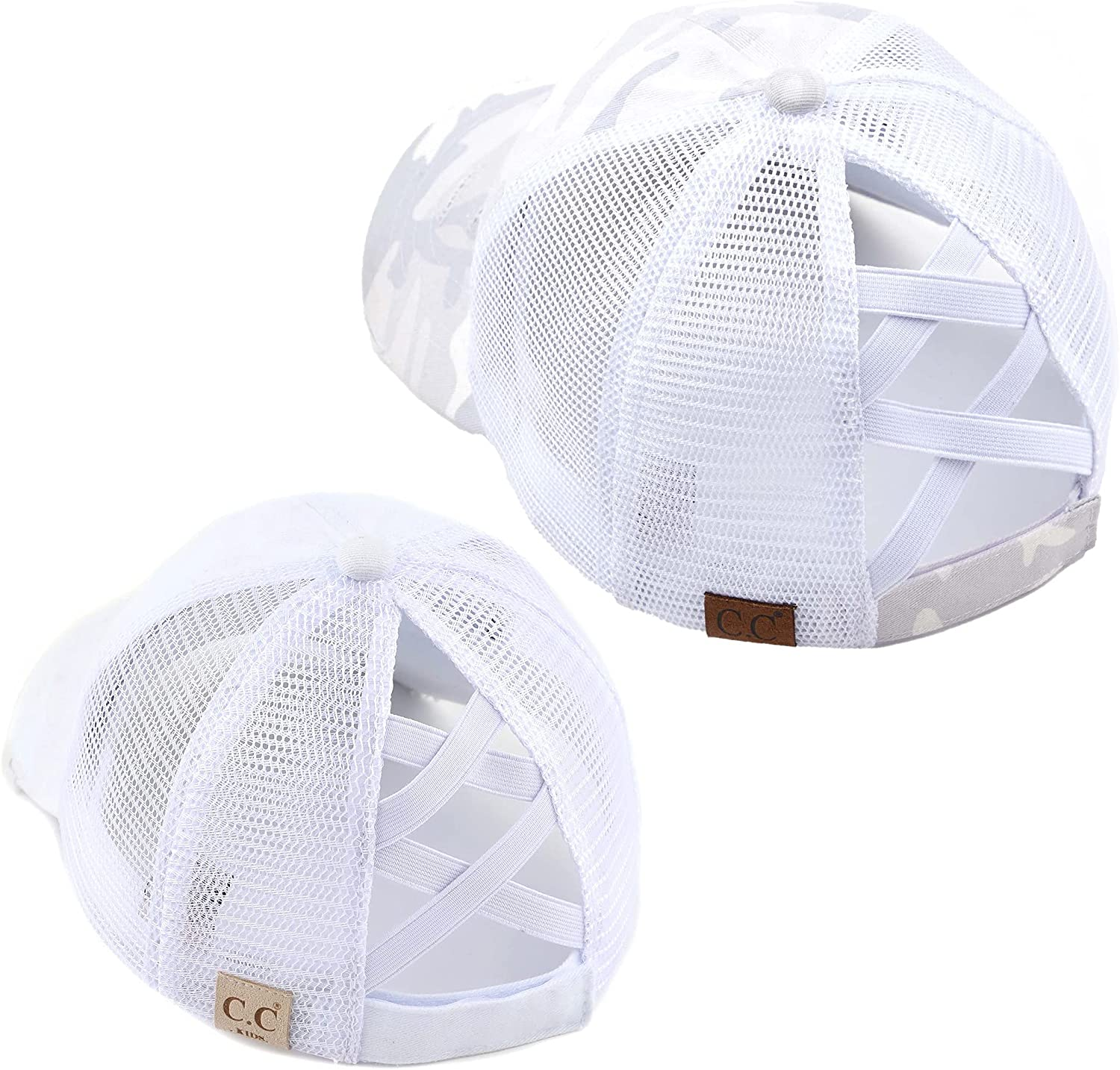 Mommy Long-awaited and me Criss Cross Hat Bundle: White Camo Limited price 2 Pack