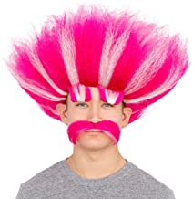 Adult Deluxe King Troll Wig and Mustache Kit
