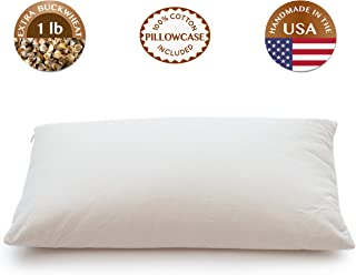 ComfyComfy Buckwheat Hull Pillow, Classic Size (14