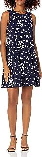 فستان أرجوحة المنقطة منقوشة بأكمام للنساء جيسيكا هوارد فستان كاجوال