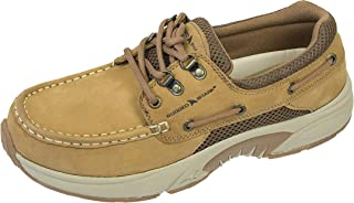 Rugged Shark Men's Atlantic Classic Casual Boat Shoe with Cushioned Support, Copper Brown, Men's Sizes 8-13