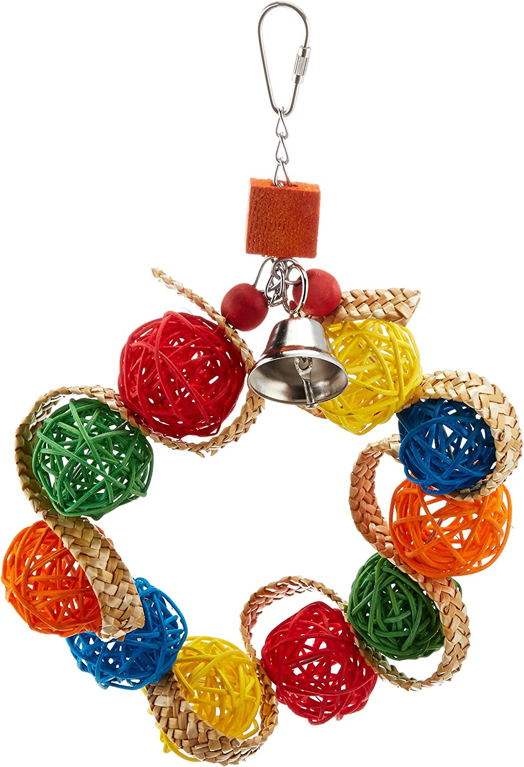Paradise Vine Ball Braided Wreath Pet Toy, 7.5 by 1 by 7.5Inch