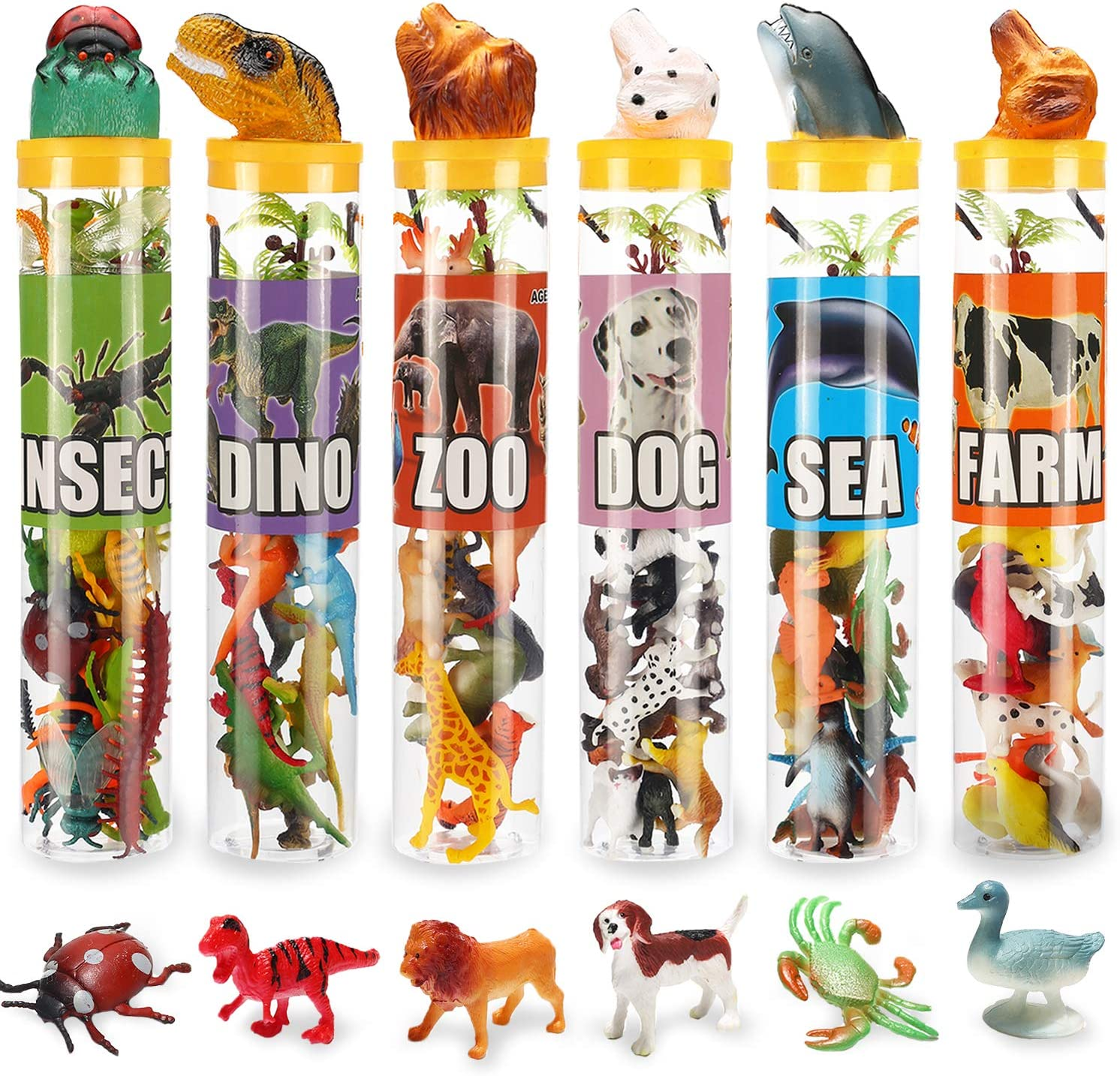 82 Piece Animal Toy Assorted Mini Year-end annual account Insect Houston Mall Ocean Dinosaur Sea Ani