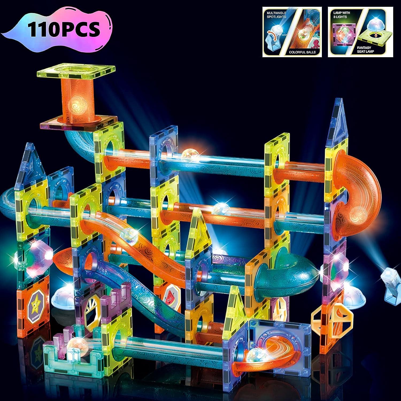 Buy BINZKBB Light Magnetic Tiles Building Blocks for Kids, 20D ...
