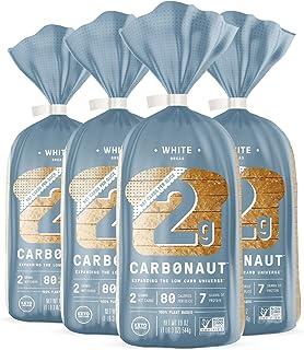 Carbonaut Low Carb White Bread, Non-GMO, Vegan, Sugar Free, Keto Bread (4 pack)
