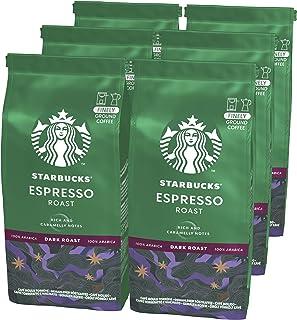 Starbucks Espresso Roast, Dark Roast, Gemalen Filterkoffie (6 zakken à 200g)