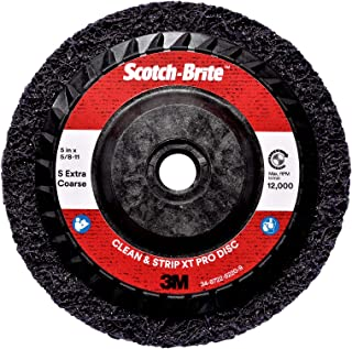 Scotch-Brite Clean and Strip XT Pro Extra Cut Disc, TN Quick Change, 4-1/2 in x 5/8 in-11, A XCS, 10 per case