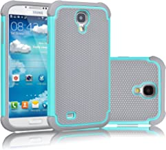 Tekcoo for Galaxy S4 Case, [Tmajor Series] [Turquoise/Grey] Shock Absorbing Hybrid Rubber Plastic Impact Defender Rugged Slim Hard Case Cover Shell for Samsung Galaxy S4 S IV I9500 GS4 All Carriers