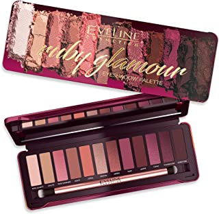 Eveline 12 Colours Eyeshadow Palette, Ruby Glamour, 12g