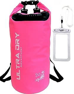 Premium Waterproof Bag, Sack with phone dry bag and Long Adjustable Shoulder Strap..