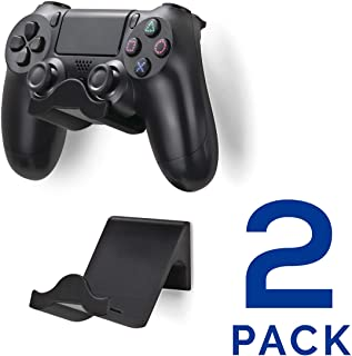 Brainwavz PS4 Game Controller Wall Hanger Stand Mount Holder (2 Pack) - Dualshock Gamepad Accessories (Improved Adheasive ...