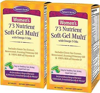 Nature's Secret Women's 73 Nutrient Soft-Gel Multi Vitamin, 60-Count (Pack of 2)