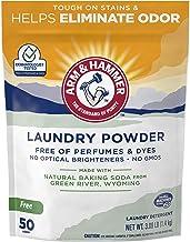 ARM & HAMMER Laundry Powder (50 Loads/1 Pack)—Fragrance-Free, Dye-Free Formula Made with Natural Baking Soda Helps Elimina...