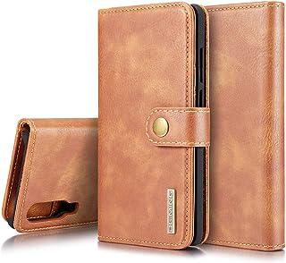 SZCINSEN för Huawei P30 plånboksfodral i äkta läder, 2-i-1 flip magnetiskt plånboksfodral, retro äkta koskinn läderfodral ...