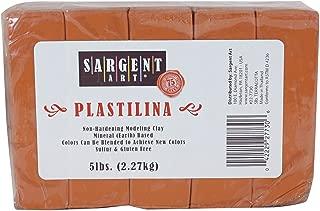 Sargent Art Plastilina Modeling Clay, 5-Pound, Terracotta