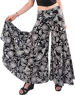 Tropic Bliss Women's Wide-Leg Cotton Palazzo Pants...