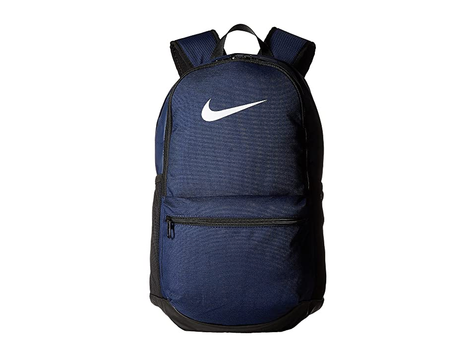63a328d6046d Nike Brasilia Medium Backpack (Midnight Navy Black White) Backpack Bags