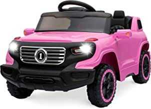 Best Choice Products 6V Kids Ride On Car Truck w/ Parent Control, 3 Speeds, LED Headlights, MP3 Player, Horn - Pink