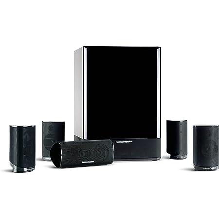 Harman Kardon HKTS-15 5.1 Sistema de Altavoces de Cine en casa de 6 Piezas (Negro Brillo) (suspendido por el Fabricante)