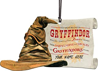 Trend Setters Harry Potter Sorting Hat - Gryffindor Personalized - Shaped Acrylic Hanging Print Decor with Hogwarts House Quote Poem