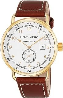 Hamilton Men's H77745553 Khaki Navy Analog Display Swiss Automatic Brown Watch