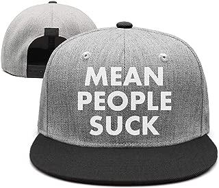 Mean People Suck Unisex Casual Hip hop Trucker Cap Adjustable Fits Snapback hat Sport Cap One Size
