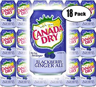 Canada Dry Ginger Ale Blackberry, 12oz Can (Pack of 18, Total of 216 Oz)