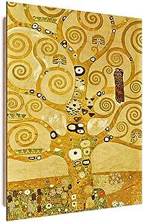 F FEEBY WALL DECOR Cuadro Decorativo Gustav Klimt Arte de la Pared árbol de la Vida Dorado 80x120 cm