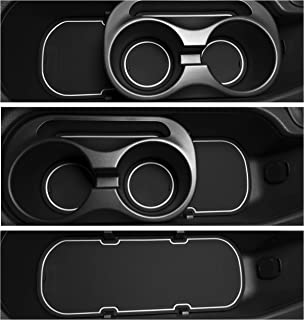 Custom Fit Cup, Door, Console Liner Accessories Kit for BRZ 86 FR-S 2020 2019 2018 2017 2016 2015 2014 2013 Subaru Toyota Scion 9PC Set (White Trim)