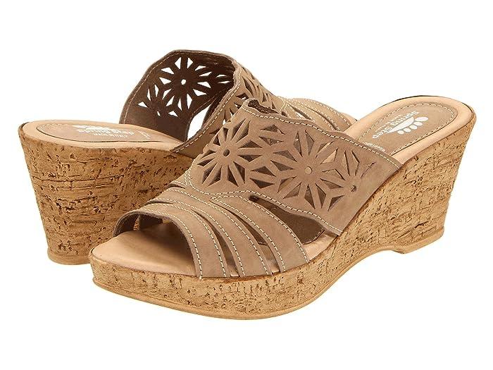 70s Shoes, Platforms, Boots, Heels Spring Step Dora Beige Womens Wedge Shoes $69.95 AT vintagedancer.com