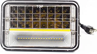 4x6 Inch LED Work Lights Headlights, 5-inch Rectangular Lights, Truck Lights, Far and Near Light Functions, Yellow Daytime Running Lights, Car Fog Lights, Motorcycle Lights
