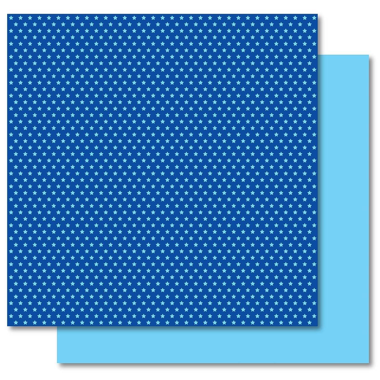 Best Creation 12-Inch by 12-Inch Basic Glitter Paper Star, Dark Blue