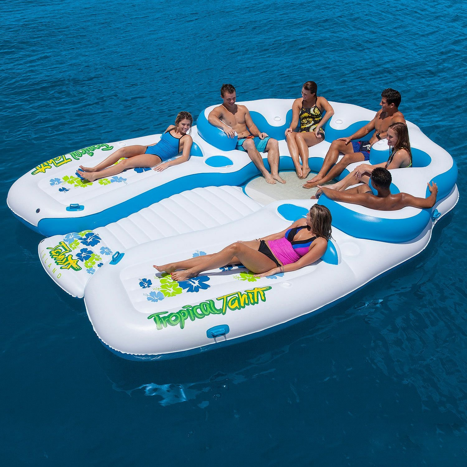 Tropical 7 Person Floating Suntanning Coolers