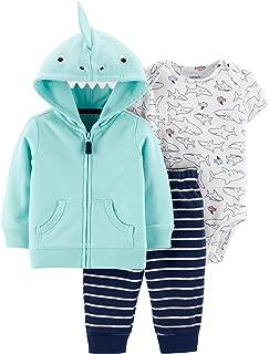 Carter's Baby Boys' 3 Piece Plaid Cardigan Little Jacket Set