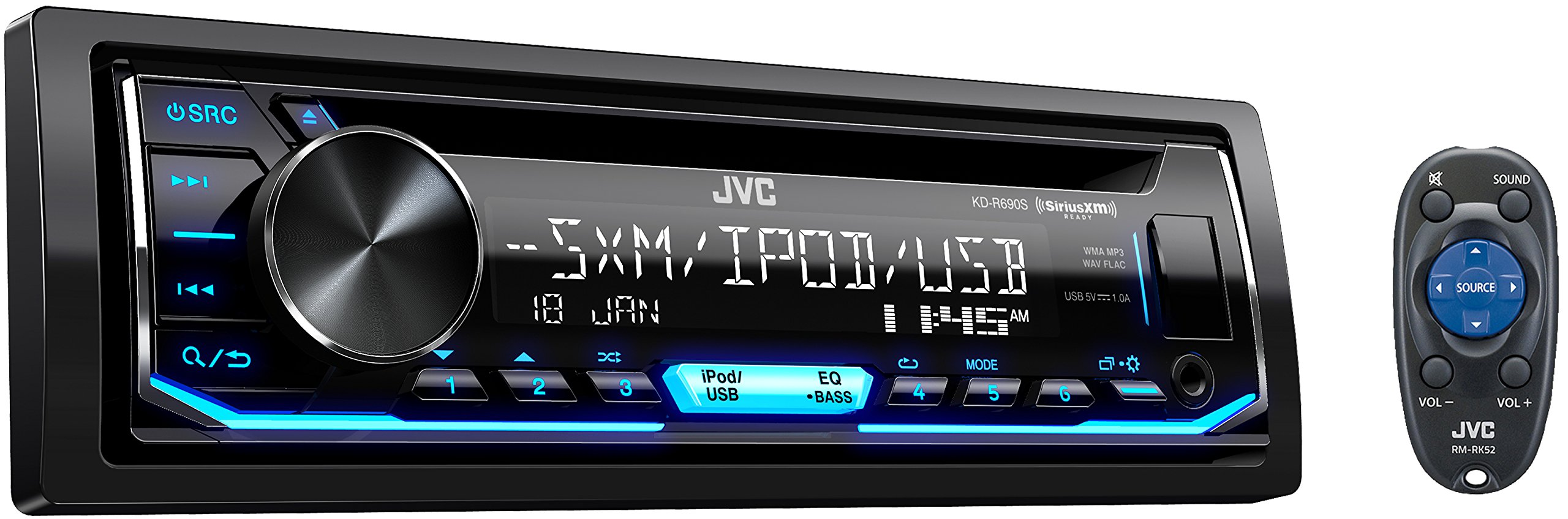 JVC KD R690S Receiver Featuring Illumination