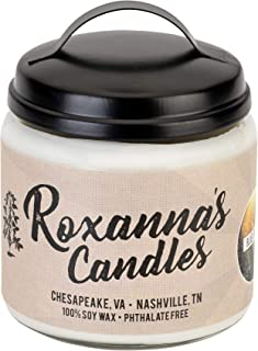 Roxanna's Candles Clean Burning Soy Wax Wooden Wick Glass Jar Candle 16oz by Artisan Hand-Crafted in Nashville, TN | NO Ch...