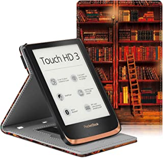 Fintie Etui do Pocketbook Touch HD 3 / Touch Lux 4 / Touch Lux 5 / Basic Lux 2 / Color (2020) czytnik e-booków - Multi-kąt...