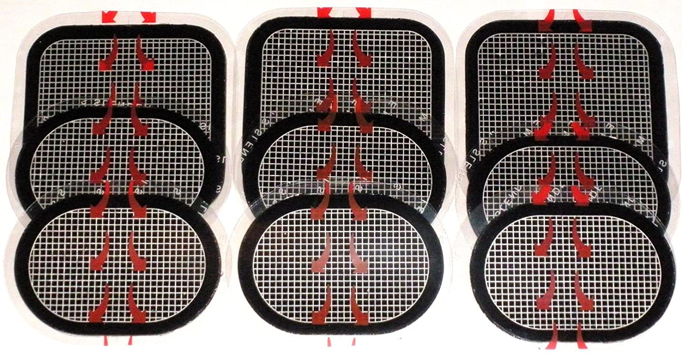 の配列フクロウ雑種スレンダートーン 対応 EMS互換交換パッドパッド 3枚x3セット 合計9枚 約3カ月分 (正面用 3枚 + 脇腹用6枚)