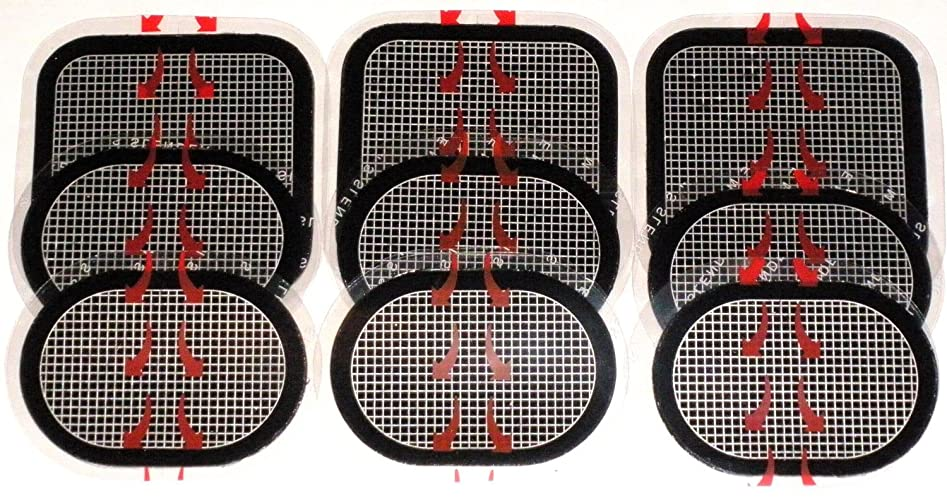 爵チャンス反響するスレンダートーン 対応 EMS互換交換パッドパッド 3枚x3セット 合計9枚 約3カ月分 (正面用 3枚 + 脇腹用6枚)
