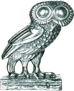 Greek Owl Miniature Metal Figurine