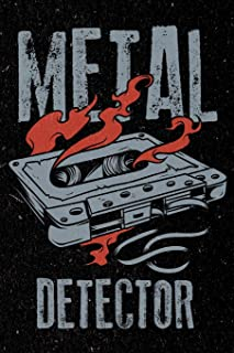Metal Detector: Heavy Rock Music Artistic Doodle Sketch Pad for Men, Women and Kids
