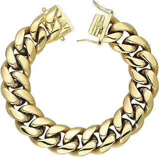 Best gold plated cuban bracelet Reviews