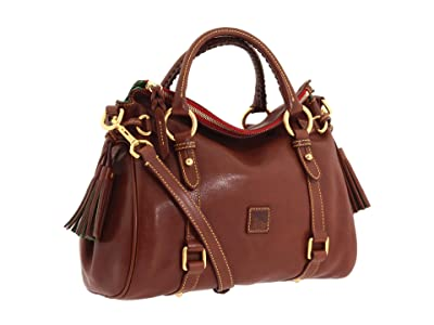 Dooney & Bourke Florentine Small Satchel (Chestnut/Self Trim) Handbags